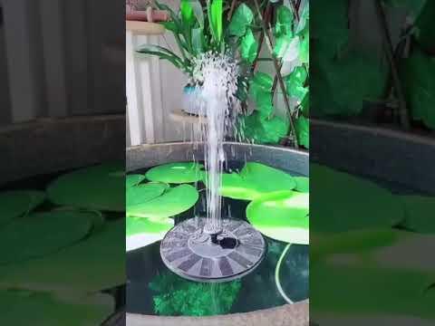 Solar Power Water Fountain