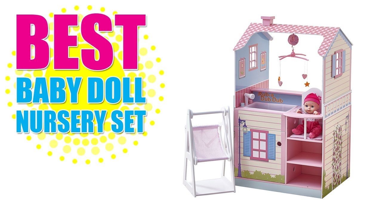 Best Baby Doll Nursery Set   Teamson Kids   All In One 18 Inch Baby Doll  Nursery Station With Swing