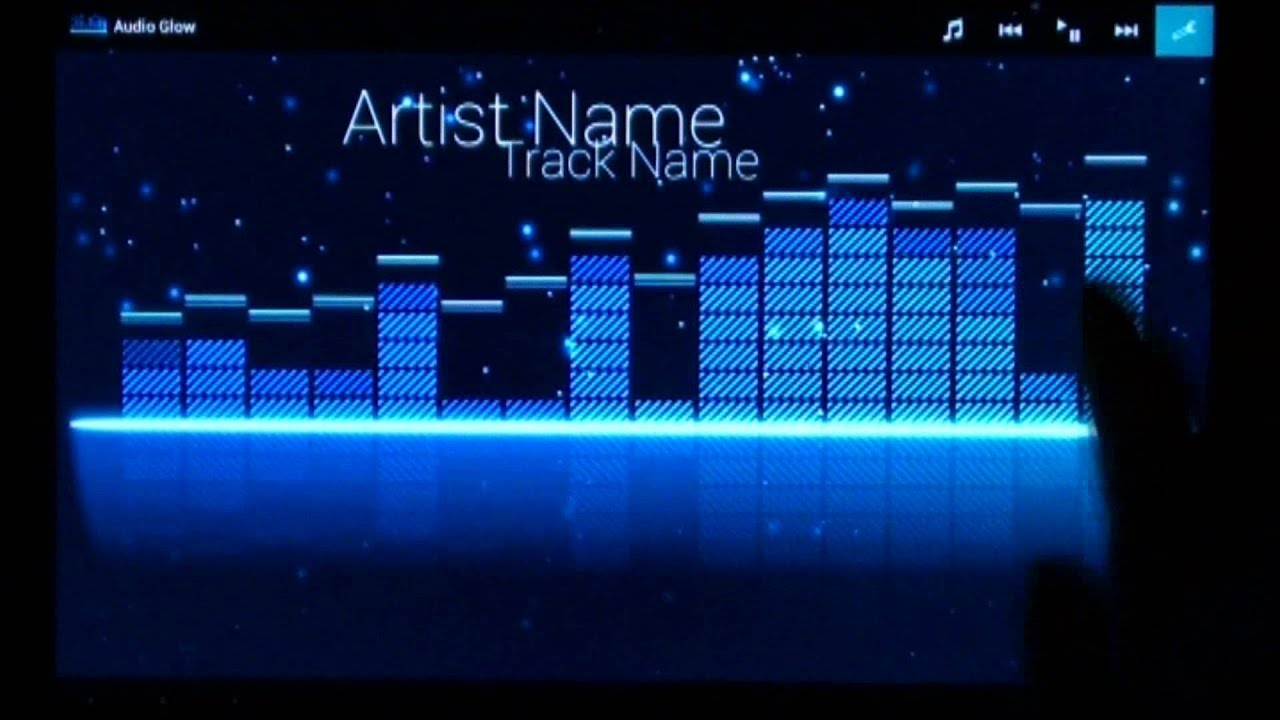 Audio Glow - Music Visualizer for Android - YouTube