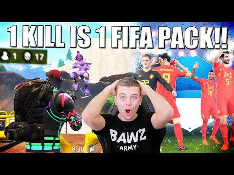 1 FORTNITE KILL = 1 FIFA WORLD CUP PACK!! NEDERLANDS