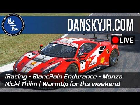 iRacing | Blancpain Endurance Series | Nicki Thiim | Monza - Warmup for the weekend | LIVE!