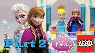 Frozen Lego Disney Princess Elsa's Sparkling Ice Castle Build Review Part 2  - Kids Toys