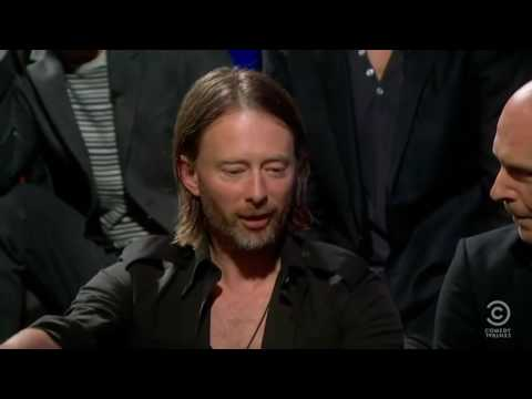 (CC자막) 라디오헤드 2011년 인터뷰 (Radiohead Full Band Interview, 2011  Colbert Report Kor sub cc)