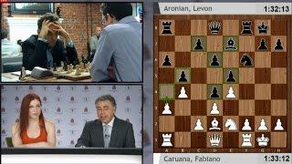 AJEDREZ - Caruana destroza a Aronian - Ajedrez 2014 - AJEDREZ Copa Sinquefield 2014