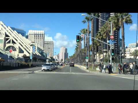 Following a Camera Car Around San Diego