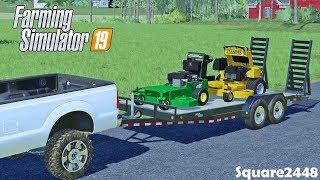 Lawn Care | 72 inch Wright | JD Walkbehind | Mowing Lawns | Farming Simulator 19