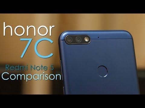Honor 7C review and Honor 7C vs Redmi Note 5 Comparison