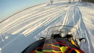 Первый выезд на снегоходе 26 01 2015 brp ski doo skandic swt 600