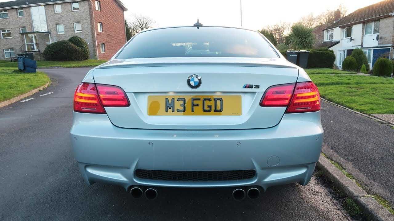 Bmw E92 M3 Exhaust With 4 Pipe Mod Back Box Revs Accelerations