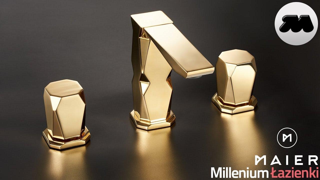 Maier Ikon 74005 Oro Golden 24 каратные позолоченные батареи ванная комната Bateria 3 Otworowa