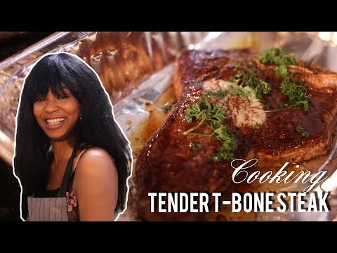 How To Cook a TENDER T-BONE STEAK | COOKING SHOW with LOU