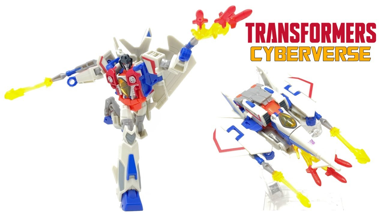 Transformers Cyberverse Seeker Strike Starscream In-Hand Review by PrimeVsPrime