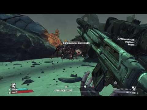 Borderlands   Specter Siren gameplay (Crawmerax kill)