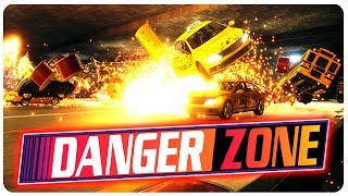 Car Blown In The Burnout Zone!? EXPLOSIONS! | Danger Zone Gameplay (PC)