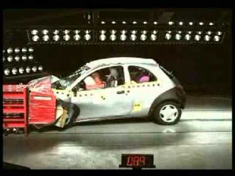 crash test ford ka 1 youtube. Black Bedroom Furniture Sets. Home Design Ideas