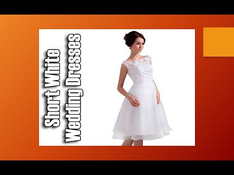 Short White Wedding Dresses Plus Size Short Wedding Dresses Youtube