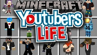 YOUTUBERS LIFE IN MINECRAFT!!