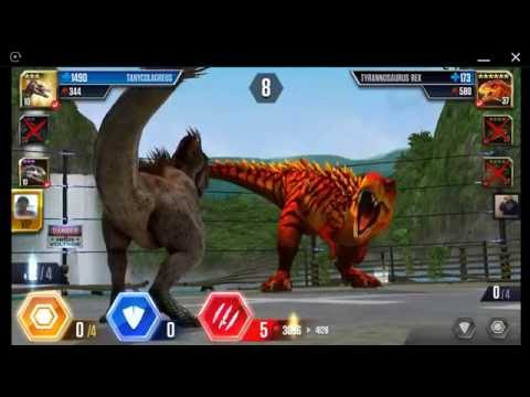 Jurassic World: The Game - Player Duel Battle 639 - TANYCOLAGREUS!