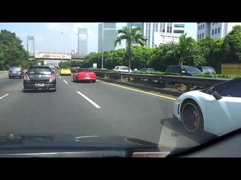 Sport cars on Jakarta road