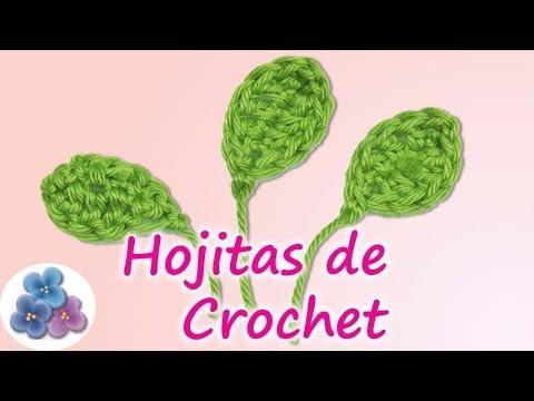 Como hacer hojas para flores de crochet easy crochet leaf - Como hacer flores de ganchillo ...