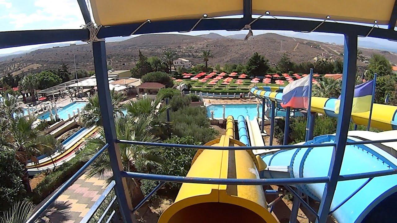 yellow water slide at watercity
