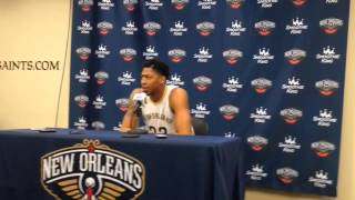 Anthony Davis explains his new tattoo dedicated to his grandfather