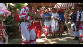 Huichol ceremonial dance celebrating the corn harvest