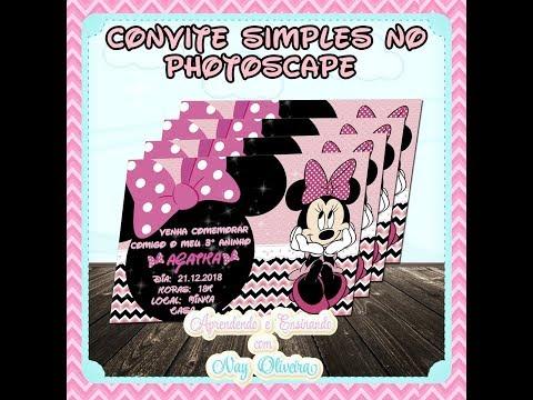 Como Fazer Convite No Photoscape (medida Do Convite 1772x1101)