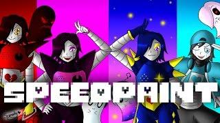 SpeedPaint! Alternative Universe Mettaton and Napstablook (Undertale AU