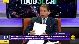 Todo Se Sabe │Julio Rodríguez defiende a Miguel Atala, quien habría recibido $900 mil de Odebrecht