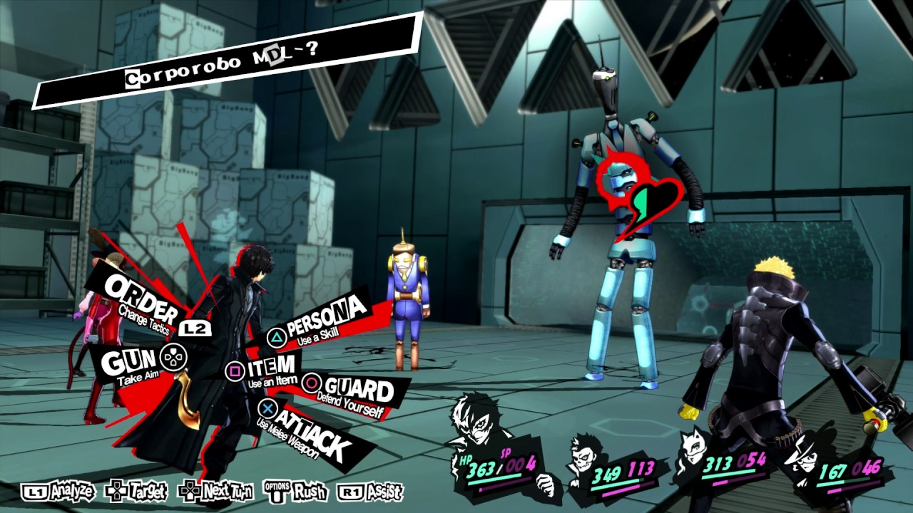 Persona Palace - Youtube Id Section Sequence 19 Obtain 5 Okumura's 9 Chief Blue Robot Fight Gameplay