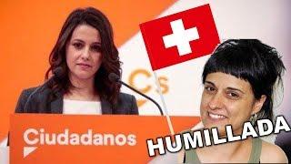 DEMOLEDOR ZASCA de INES ARRIMADAS a ANNA GABRIEL tras su FUGA a SUIZA