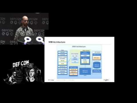 DEF CON 23 - Panel - WhyMI so Sexy: WMI Attacks - Real Time Defense and Advanced Forensics