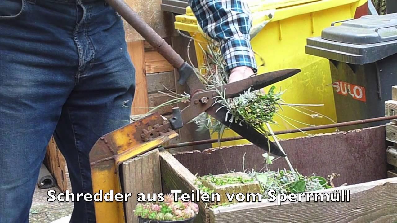 Häufig Schredder, Handbetrieb, für kleine Hausgärten - YouTube CJ75