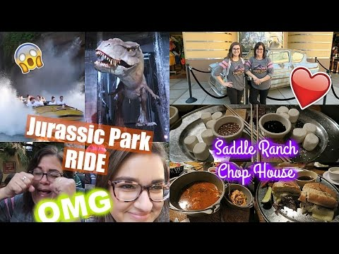 THE JURASSIC PARK RIDE & EATING SOME GREAT FOOD! - Universal Studios Vlog #2