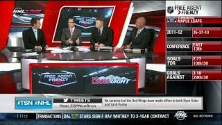 NHL Free Agent Frenzy on TSN July 1 2012. NHL Channel. 2nd half of show