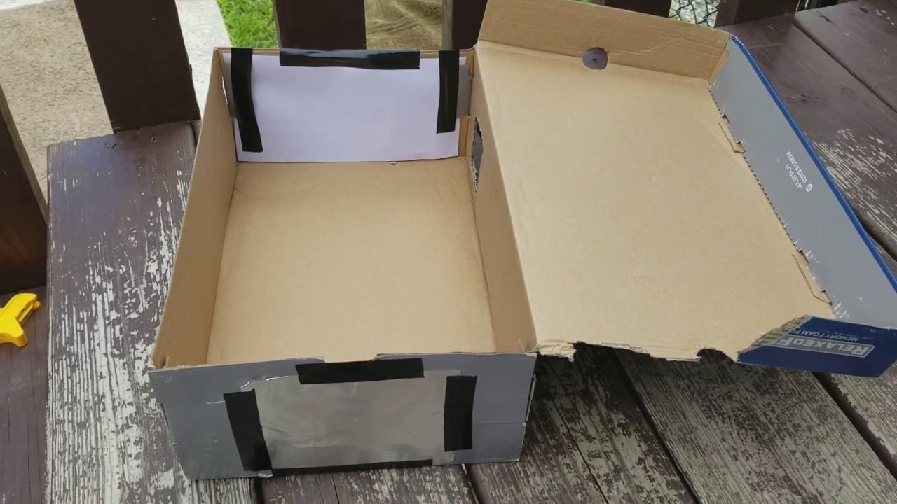 Shoebox Pinhole Eclipse Viewer