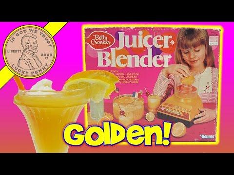 Betty Crocker Juicer Blender Kids Kitchen Toy - Golden Surprise & Chocolate Shake
