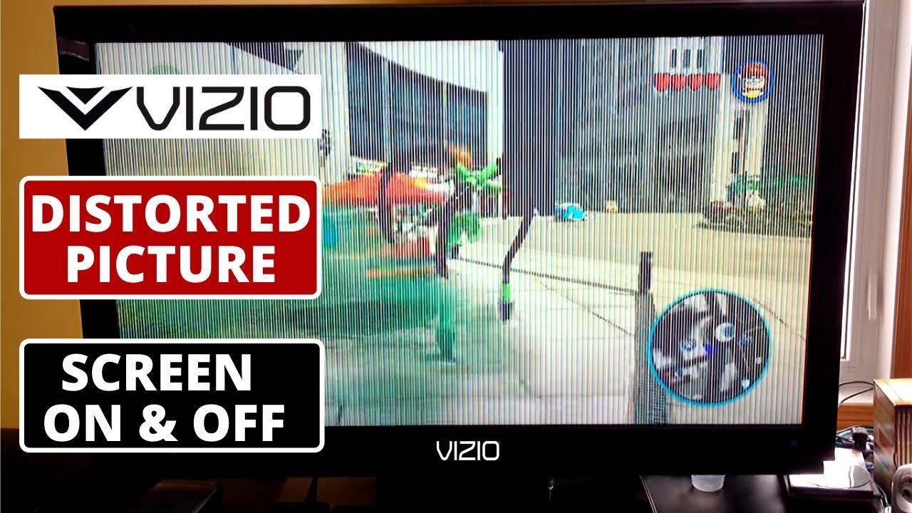 How To Fix Vizio Tv Screen Is Distorted Tv Screen Flickering Vizio Tv Display Problems Youtube