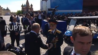 Russia: Not on my watch! Putin scolds security for pushing veteran during V-Day parade