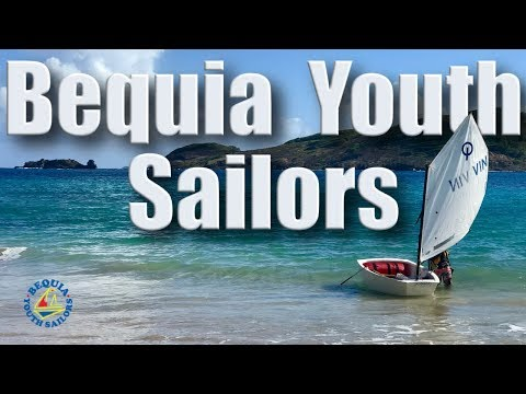 Bequia Youth sailors, optimist/ laser