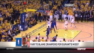 Joey Crawford Blocks Stephen Curry