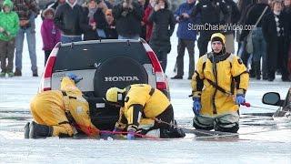 Vehicles Fall Through The Ice on Lake Geneva, Wisconsin - 2/6/2016