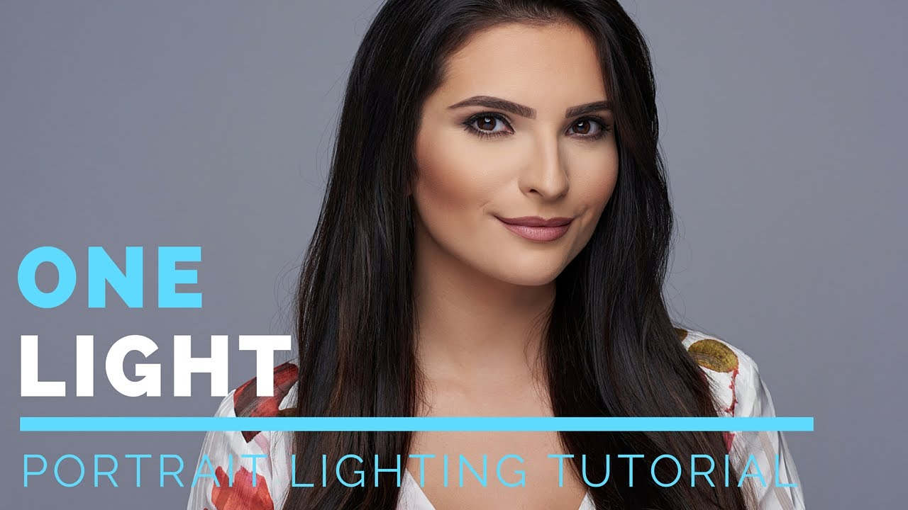 Portrait Photography Lighting Tutorial | Portrait Photography Lighting  Techniques With One Light!