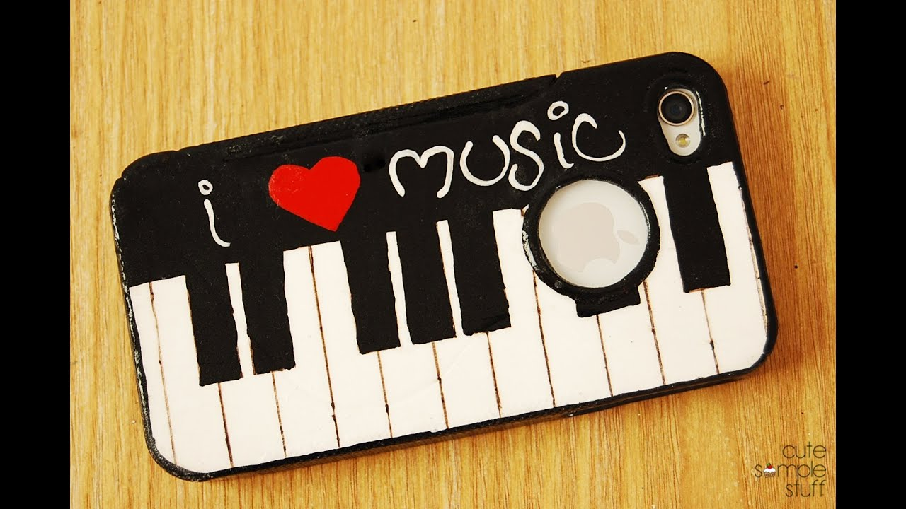 Diy piano cell phone case youtube for How to make phone cases at home