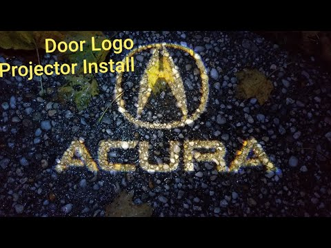 HOW TO INSTALL ACURA DOOR LOGO LIGHT 2004-2008 ACURA TL PLUG AND PLAY TUTORIAL