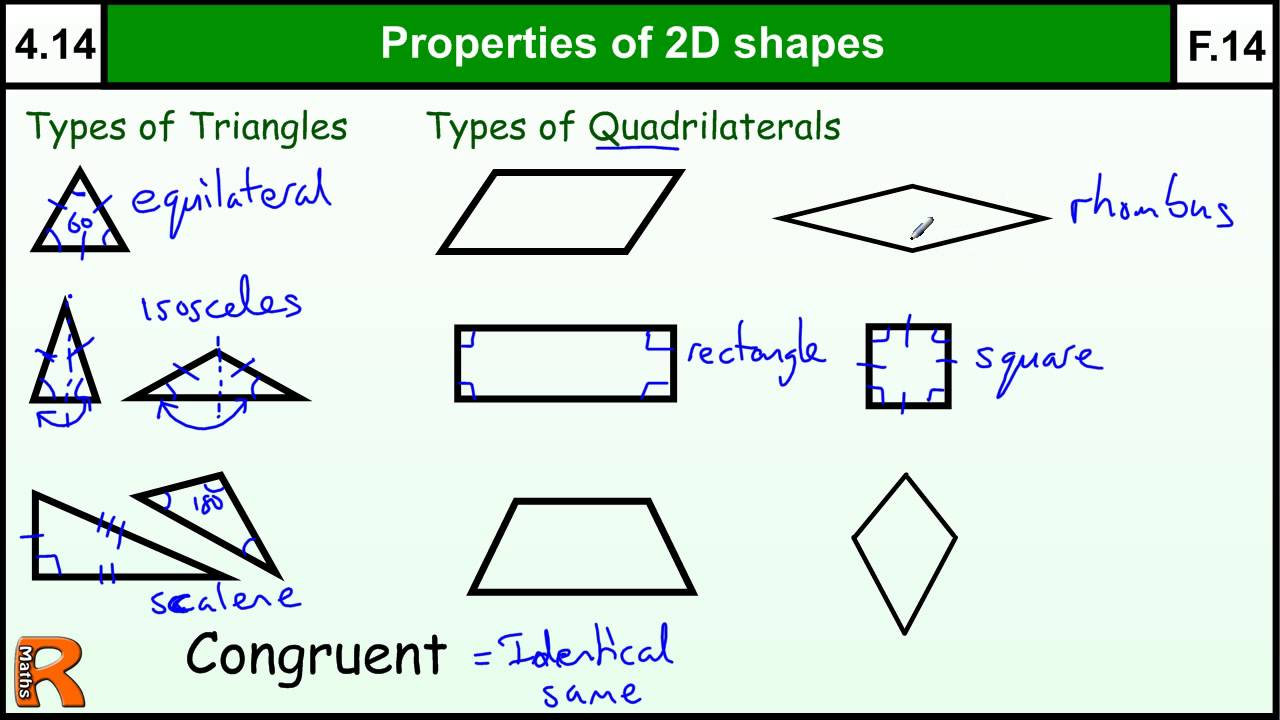 worksheet Math Properties 4 14 properties of 2d shapes basic maths core skills level youtube