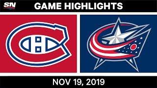 NHL Highlights   Canadiens vs Blue Jackets - Nov. 19, 2019