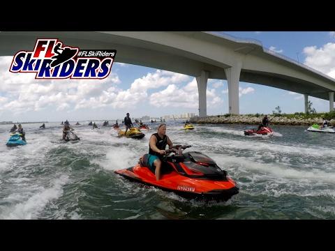 FL Ski Riders Dunedin Causeway Jet Ski Invasion