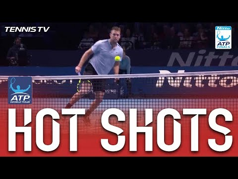 Hot Shot: Sock Displays Touch At Net Nitto ATP Finals 2017